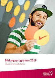 Bildungsprogramm 2019 - Akademie Schloss Liebenau
