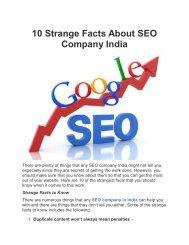 10 Strange Facts About SEO Company India