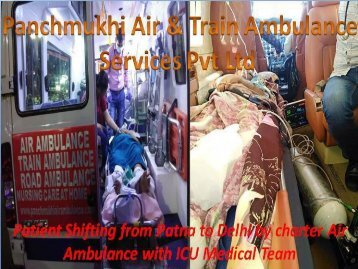 Get Best and Trusted Air Ambulance Service in Delhi with ICU Facility