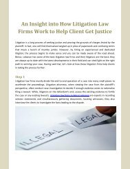 An Insight into How Litigation Law Firms Work to Help Client Get Justice