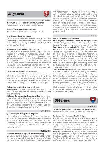 Gemeindespalten KW44 / 02.11.18