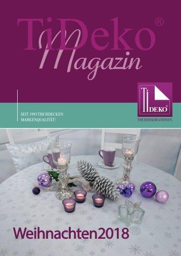 Infomagazin Tischdecken-Shop Weihnachten 2018 TiDeko