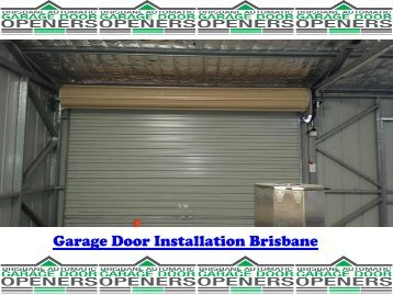 Garage Door Installation Service Brisbane