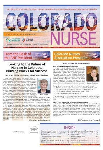 Colorado Nurse - November 2018
