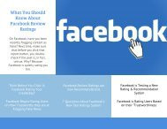 What You Should Know About Facebook Review Ratings