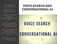 Voice Search and Conversational AI