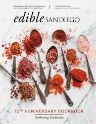 Edible San Diego Issue 50 10th Anniversary Cookbook