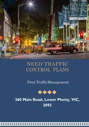 Get the Accurate Traffic Control Plans