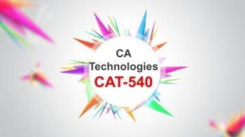 CAT-540 Exam Braindumps