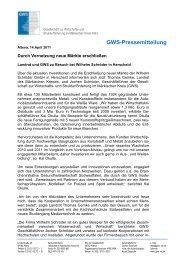 GWS-Pressemitteilung - Gesellschaft zur Wirtschafts- und ...
