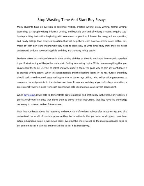Buy Written Essays
