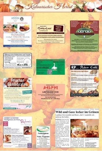 Kulinarischer Herbst  -31.10.2018-
