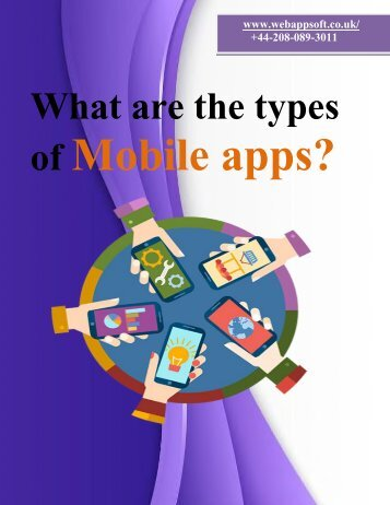 What are the types of Mobile apps