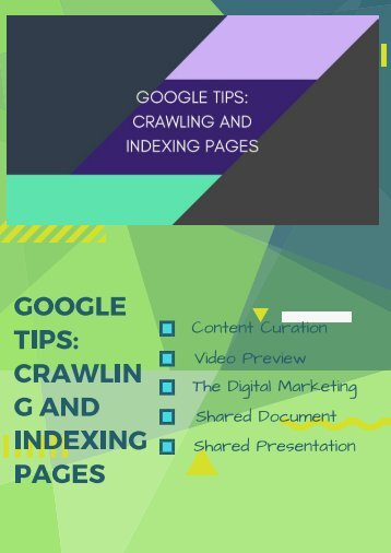GOOGLE TIPS_ CRAWLING AND INDEXING PAGES