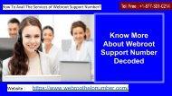 Webroot Support Number For Webroot Customer Instant Help