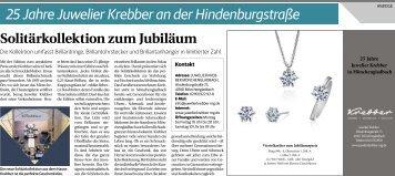 25 Jahre Juwelier Krebber an der Hindenburgstraße  31.10.2018-