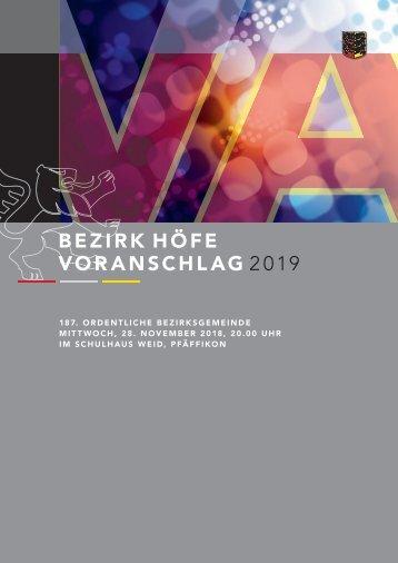 Voranschlag 2019 Bezirk Hoefe