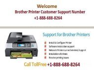 Brother Printer Customer Support Number +1-888-688-8264