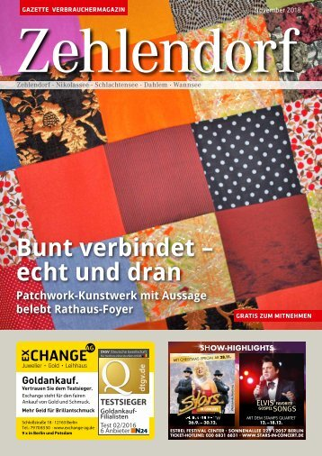 Gazette Zehlendorf November 2018