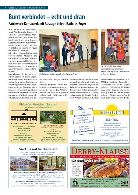 Gazette Zehlendorf November 2018