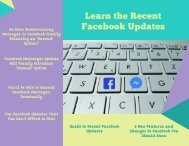 Learn the Recent Facebook Updates