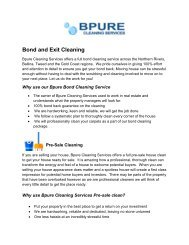 BPURE CLEANING SOLUTIONS  Experience an ultimate clean at affordable rates