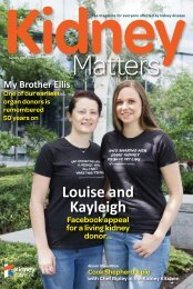 Kidney Matters - Issue 3, Autumn 2018