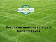 Looking FREE QUOTE for best Lawn mowing service in Garland?