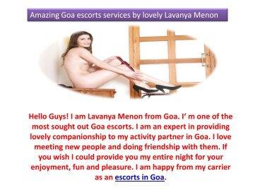 Amazing Goa escorts services by lovely Lavanya Menon