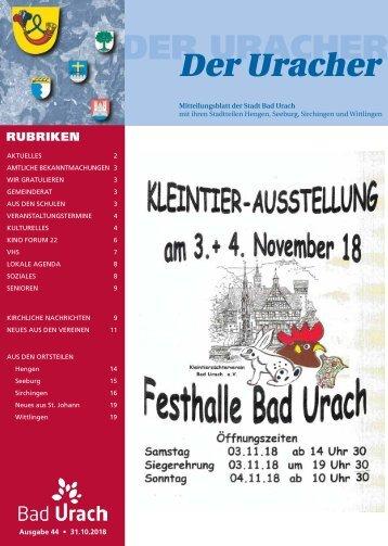 Der Uracher KW 44-2018