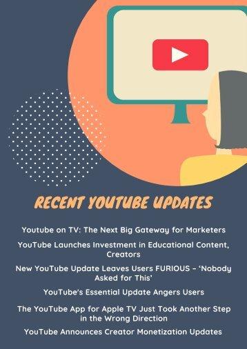 Recent YouTube Updates