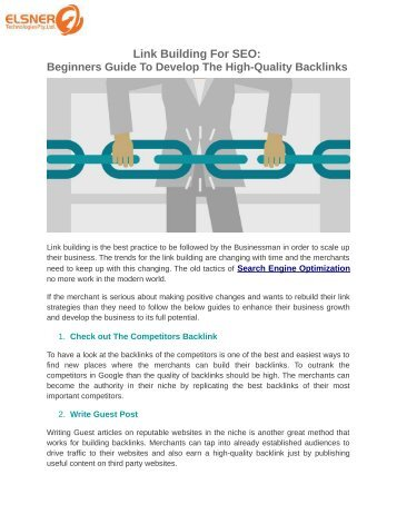 Link-Building-For SEO-High-Quality-Backlinks