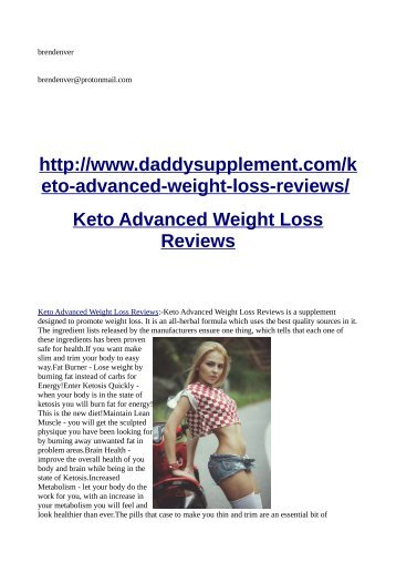 http://www.daddysupplement.com/keto-advanced-weight-loss-reviews/