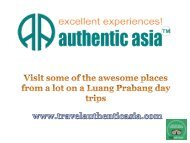 Visit some of the awesome places from a lot on a Luang Prabang day trips