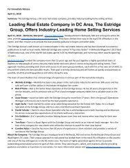 Leading Real Estate Company in DC Area The Estridge Group Offers Industry Leading Home Selling Services