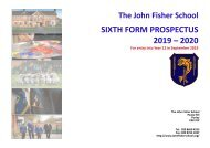 The John Fisher School Sixth Form Prospectus 2019-2021