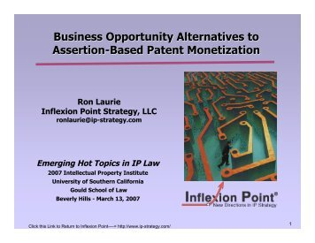 Business Opportunity Alternatives to Assertion-Based Patent ...