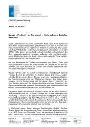 Presse - Nachbericht - Gesellschaft zur Wirtschafts- und ...