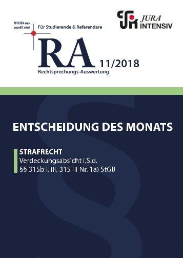 RA 11/2018 - Entscheidung des Monats