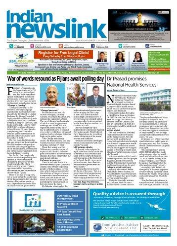 Indian Newslink Nov 1  2018 Digital Edition