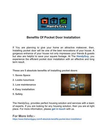 Benefits Of Pocket Door Installation