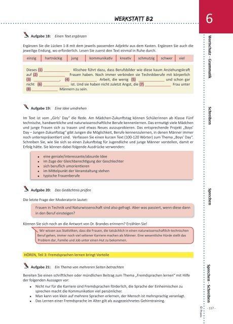 Werkstatt B2: Arbeitsbuch