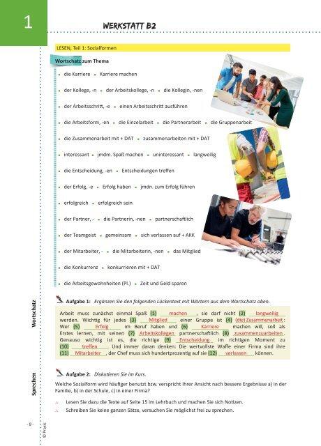 Werkstatt B2: Lehrerausgabe
