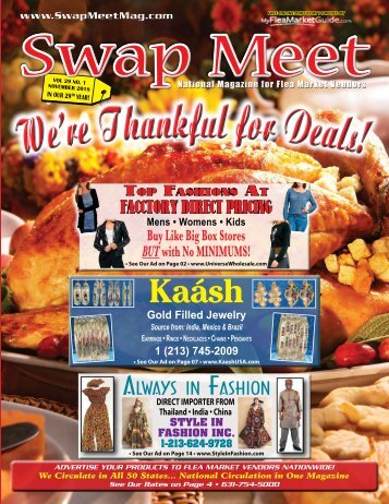 Swap Meet Magazine E-Mag Nov. 2018