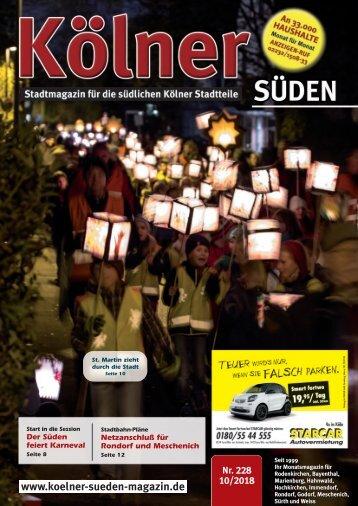 Kölner Süden Magazin Oktober 2018