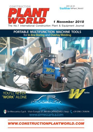 Construction Plant World 1st November 2018