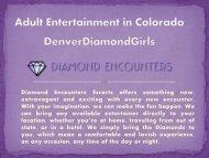 Adult Entertainment Agency in Denver  Denver Diamond Girls
