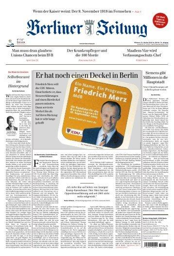 Berliner Zeitung 31.10.2018