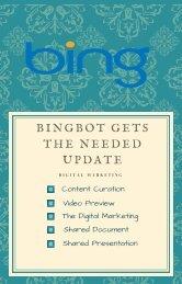 BINGBOT GETS THE NEEDED UPDATE