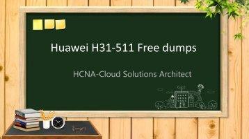 HCNA-Cloud Solutions Architect H31-511 dumps